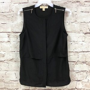 Michael Kors Sheer Sleeveless Blouse